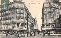 CPA 75 PARIS Xe LA RUE DE DUNKERQUE