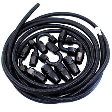 AN6 -6AN Fitting Stainless Steel Nylon Braided Oil Fuel Hose Line 5 Meters Kit