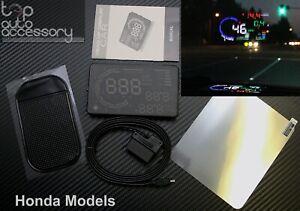 "HUD Head Up Display 5.5"" OBD II 2 Speed RPM Warning System for all Honda models"