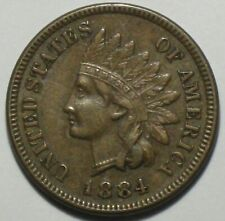 1884 INDIAN HEAD CENT PENNY  extra fine++