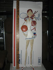 """24 """" ALL METAL ATHLETIC GIRL TENNIS GIRL WITH BASKETBALL-DUFFLE BAG AND WATER **"""