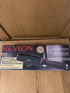 NEW Revlon pro collection salon one step straight and shine heated brush