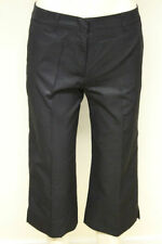 Cotton Blend Not Relevant Capri, Cropped Trousers for Women