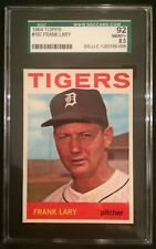 1964 TOPPS FRANK LARY DETROIT TIGERS #197 SGC 92=8.5=NEAR MINT-MINT+--CENTERED!
