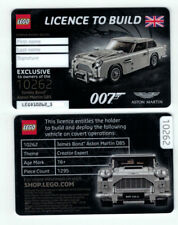 Exclusive & Limited LEGO® Licence To Build James Bond 007 Aston Martin DB5 Card