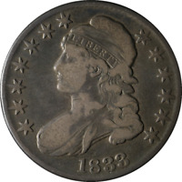 1833 Bust Half Dollar Nice VG/F 0-103 R.2 Decent Eye Appeal Nice Strike