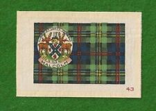 MALCOLM CLAN or MALCOM MACCALLUM TARTAN Coat of Arms 1922  printed silk Tartan