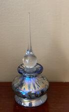 """STUART ABELMAN Perfume Bottle Art Glass Dated 1993 5"""" W Stopper Excellent Cond"""