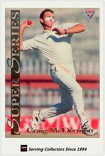 1994/95 Futera Cricket Trading Cards Super Series SS4 Craig McDermott (Australia