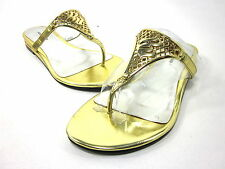 ROCAWEAR, SALLIE SANDAL, GOLD, WOMENS, US 7M, SYNTHETIC, NEW WITH BOX