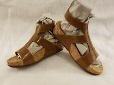 FitFlop Arena Gladiator Sandals Tan Leather H-Shape Strap Sling Back Size 7