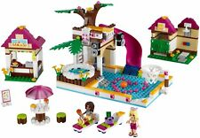 LEGO Friends 41008 Heartlake City Pool Complete Set w/Manual & Minifigs (No Box)