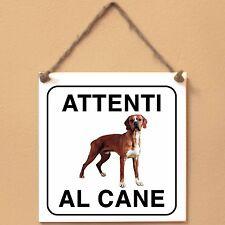 Perdigueiro Português 1 Attenti al cane Targa cane cartello ceramic tiles