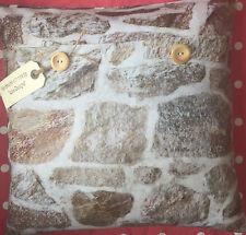 "Digitally Printed ""Stone Wall"" fabric cushion cover"