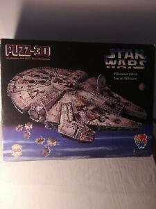 star wars millennium falcon 3d puzzle by Milton Bradley 857 Piece