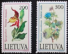 Plants in the Red book stamps, Orchid, 1992, Lithuania, SG ref: 504 & 505, MNH
