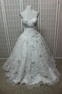 NWT Allure Bridals Q333 WHITE size 10 Quinceanera ball gown formal PROM dress