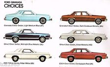 1980 Ford GRANADA Brochure/Catalog with Specifications: ESS,GHIA,