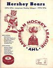 1973-1974 Vintage Hershey Bears Program