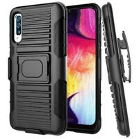 SHOCKPROOF RUGGED CASE HOLSTER HYBRID COVER SWIVEL BELT for Galaxy A50 Phones