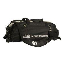 Vise 3 Ball Triple Tote Bowling Bag Black