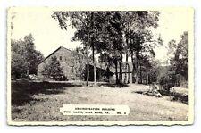 Vintage Postcard Admin Building Allegheny Forest Near Kane Pennsylvania A5