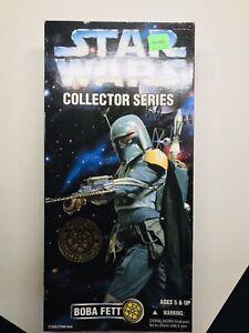 "Star Wars Collector Series BOBA FETT Bounty Hunter 12"" Inch 1996 Kenner Sealed"
