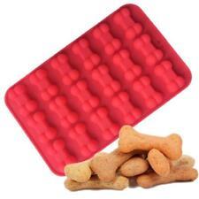 Silicone Dog Bone Baking Tray Dog Treat Recipes Theme Ice Cube Candy Mold Q