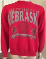 Vintage Nebraska Cornhuskers 50/50 Crewneck Sweatshirt USA Made Tultex L Large