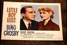 LITTLE BOY LOST 1953 LOBBY CARD #8 BING CROSBY