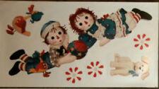 RAGGEDY ANN & ANDY dolls wall stickers dog RAGS toys 6 big decals nursery decor