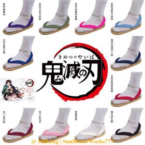 Demon Slayer Tanjirou Nezuko Cosplay Sandals Clogs Flip Flops Custom Made Shoes