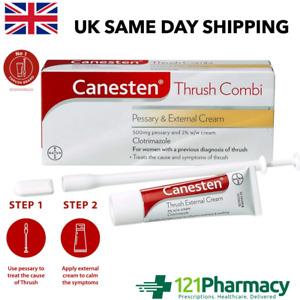 Canesten Thrush Combi internal Pessary & 2% External Cream - THRUSH TREATMENT