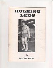 Lou Ferrigno HULKING LEGS bodybuilding muscle ORIGINAL booklet 1980