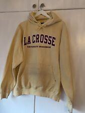 CHAMPION Vintage Mens LaCrosse University Of Wisconsin Hoodie XL