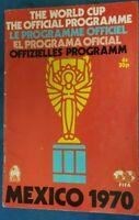 Mexico 1970 World Cup Official Programme - FIFA Mexico 1970