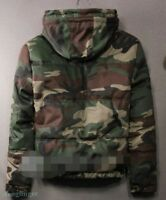 Mens Hooded Down Coat Cotton Jacket Winter Warm Thicken Fleece Military Fashion