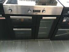 graded Beko KDVI90X 90cm Electric Range Cooker induction Hob Stainless Steel