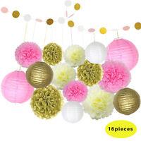 "30Pcs 10""/12"" Tissue Paper Pom Poms Flower Ball Wedding Party Bridal Decorations"