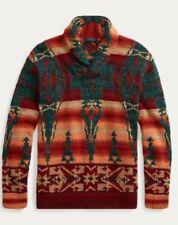 Polo Ralph Lauren Ski Bear Beacon Southwestern Aztec Dry Goods Wool Sweater (XL)