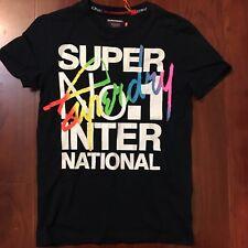 f1b9fa13075e6 Superdry International Interlocked Tee Shirt Eclipse Navy Men Size Small S