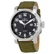 Invicta Aviator Automatic Black Carbon Fiber  Dial Mens Watch 23073