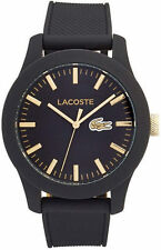 Men's Black Lacoste L1212 Silicone Strap Watch 2010818