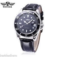 Winner W042602 Men Auto Mechanical Watch Date Display Rotatale Bezel Luminous Po
