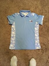 Atlanta Braves Polo Antigua Women Shirt Med Mississippi Braves baby Blue