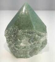 """4"""" Green Cluster Point Free Form Stone Natural Crystal Quartz MMS"""