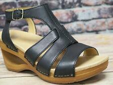 Dansko Trudy Waxy Calf Black Leather Sandal  *3414-021500