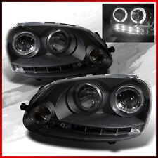 For 2006-2009 GTI Jetta Rabbit Twin Halo LED Pro Headlights Head Lights