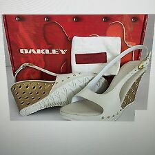OAKLEY HOLLOWPOINT SANDALS - Gold/Sand - NIB - Women's Size 5.5 Rare Rare!!!