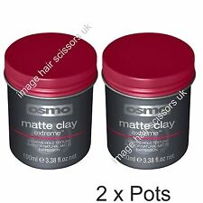 Osmo Matte Clay Extreme Hold Hair Matt Clay PACK of 2 (two) TWIN PACK